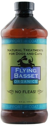 DROPPED: Flying Basset Organics - Coat Support No Fleas! Refill - 16 oz.