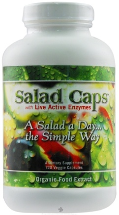 DROPPED: Enzyme Labs - Salad Caps Organic Food Extract - 120 Capsules