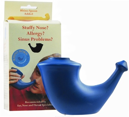 DROPPED: Buster Brands - Rhino Horn Nasal Cleansing Neti Pot - Formerly SiCap Industries CLEARANCE PRICED