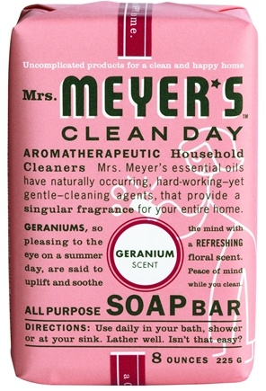 DROPPED: Mrs. Meyer's - Clean Day All Purpose Bar Soap Geranium - 8 oz.