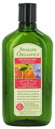 DROPPED: Avalon Organics - Shampoo Smoothing Grapefruit & Geranium - 11 oz. Formerly Refreshing Shampoo