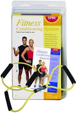 DROPPED: SPRI - Fitness Conditioning System with Exercise Guide Yellow- Very Light Resistance - CLEARANCE PRICED