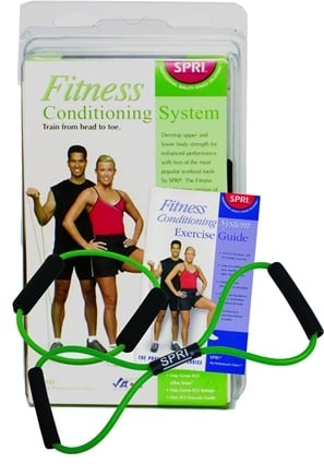 Zoom View - Fitness Conditioning System with Exercise Guide Green- Light Resistance