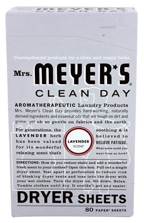 Mrs. Meyer's - Clean Day Dryer Sheets Lavender - 80 Sheet(s)