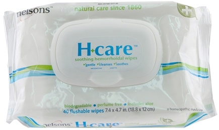 DROPPED: Nelsons - H-Care Soothing Hemorrhoidal Wipes - 40 Wipe(s) CLEARANCE PRICED
