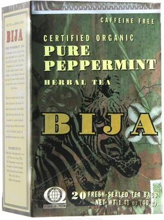 Zoom View - Bija Pure Peppermint Herbal Tea Certified Organic Caffeine-Free