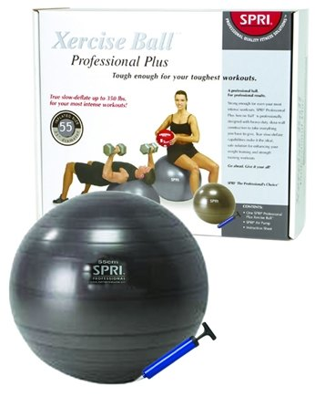 DROPPED: SPRI - Xercise Ball Professional Plus - 55cm Ball with Pump - 1 Ball(s)