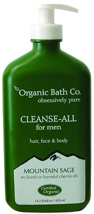 DROPPED: Organic Bath Company - Cleanse-All For Men Mountain Sage - 14.2 oz.
