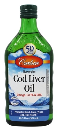 Carlson Labs - Norwegian Cod Liver Oil Regular Flavor - 16.9 oz.