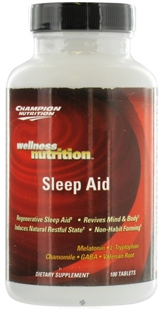 DROPPED: Champion Performance - Wellness Nutrition Sleep Aid - 100 Tablets CLEARANCE PRICED