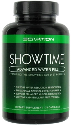 DROPPED: Scivation - Showtime Advanced Water Pill - 70 Capsules CLEARANCE PRICED