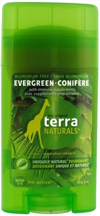 DROPPED: Terra Naturals - Deodorant Evergreen Aluminum Free - 2 oz. CLEARANCE PRICED