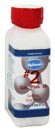 Hylands - Cell Salts #2 Calcarea Phosphorica 6 X - 1000 Tablets