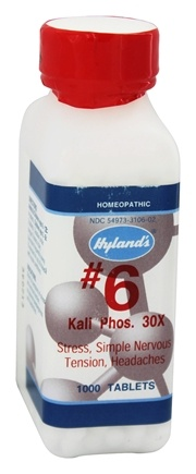 DROPPED: Hylands - Cell Salts #6 Kali Phosphoricum 30 X - 1000 Tablets
