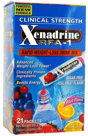 DROPPED: Cytogenix Laboratories - Xenadrine RFA-1 Rapid Weight Loss Drink Mix Fruit Punch - 21 Packet(s) CLEARANCE PRICED