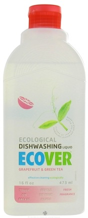 DROPPED: Ecover - Ecological Dishwashing Liquid Grapefruit & Green Tea - 16 oz. CLEARANCE PRICED