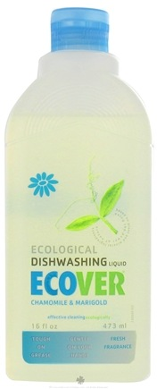 DROPPED: Ecover - Ecological Dishwashing Liquid Chamomile & Marigold - 16 oz. CLEARANCE PRICED