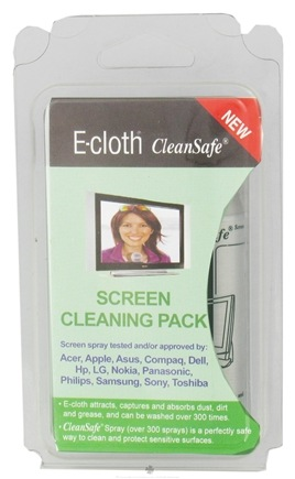 DROPPED: E-Cloth - Screen Cleaning Pack with CleanSafe Spray - 1 Cloth(s) CLEARANCE PRICED