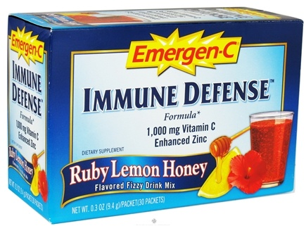 DROPPED: Alacer - Emergen-C Immune Defense Ruby Lemon Honey 1000 mg. - 30 Packet(s)