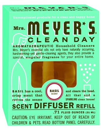 DROPPED: Mrs. Meyer's - Clean Day Scent Diffuser Refill Basil - 0.71 oz. CLEARANCE PRICED