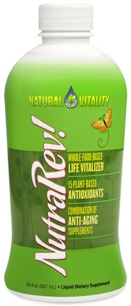DROPPED: Natural Vitality - NutraRev Anti-Aging Supplement Blend Natural Berry Flavor - 30 oz.