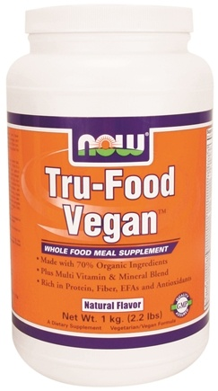 DROPPED: NOW Foods - Tru-Food Vegan Whole Food Meal Supplement Natural - 2.2 lbs.