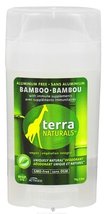 DROPPED: Terra Naturals - Deodorant Stick Aluminum Free Bamboo - 2 oz. CLEARANCE PRICED