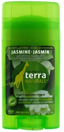 DROPPED: Terra Naturals - Deodorant Stick Aluminum Free Jasmine - 2 oz. CLEARANCE PRICED