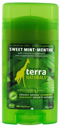 DROPPED: Terra Naturals - Deodorant Stick Aluminum Free Sweet Mint - 2 oz. CLEARANCE PRICED