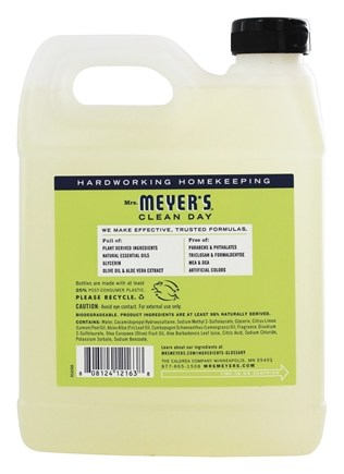 Buy Mrs Meyer S Clean Day Liquid Hand Soap Refill Lemon