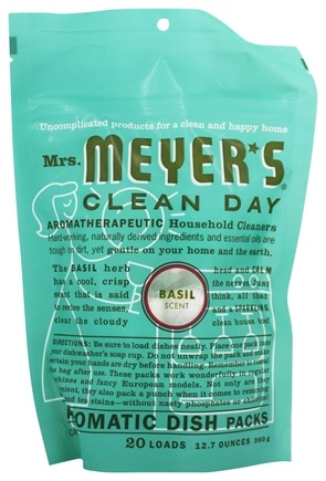 Mrs. Meyer's - Clean Day Automatic Dish Packs 20 Loads Basil - 12.7 oz.
