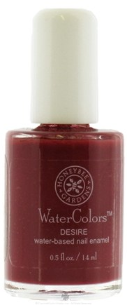 DROPPED: Honeybee Gardens - Watercolors Water Based Nail Enamel Desire - 0.5 oz. CLEARANCE PRICED