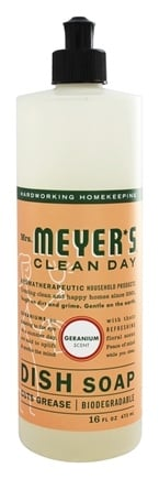 Mrs. Meyer's - Clean Day Liquid Dish Soap Geranium - 16 oz.