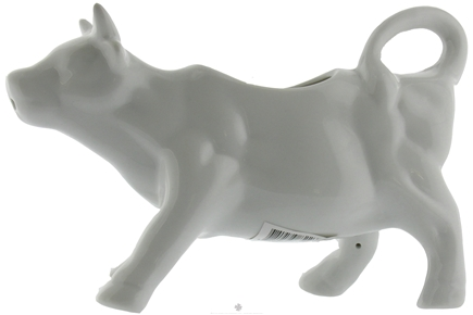 DROPPED: Harold Import - Porcelain Cow Creamer White - 6 oz. CLEARANCE PRICED