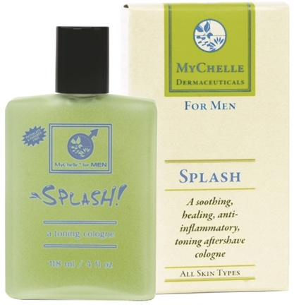 DROPPED: MyChelle Dermaceuticals - Splash Toning Aftershave Cologne For Men - 4 oz. CLEARANCE PRICED