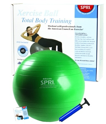DROPPED: SPRI - Xercise Ball - Total Body Training with Pump and DVD-45 cm - 1 Ball(s) CLEARANCE PRICED