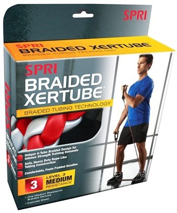 Zoom View - Braided Xertube Level 3 Medium Resistance Band