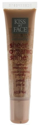 DROPPED: Kiss My Face - Sheer Organic Shine Natural Mineral Color Pearl - 0.5 oz.