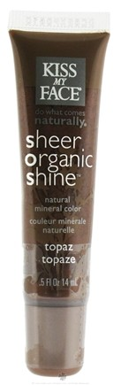 DROPPED: Kiss My Face - Sheer Organic Shine Natural Mineral Color Topaz - 0.5 oz. CLEARANCE PRICED