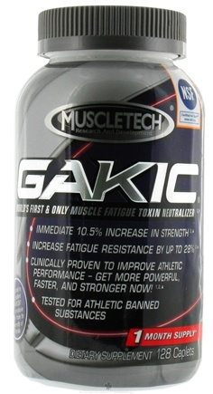 DROPPED: Muscletech Products - Gakic Muscle Fatigue Toxin Neutralizer - 128 Capsules