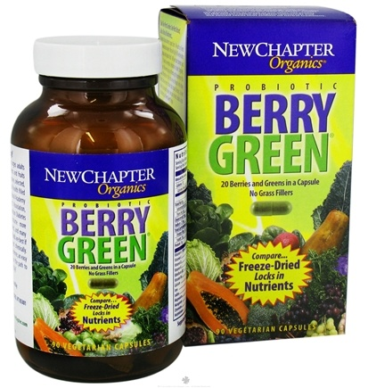 DROPPED: New Chapter - Probiotic Berry Green - 90 Vegetarian Capsules CLEARANCE PRICED