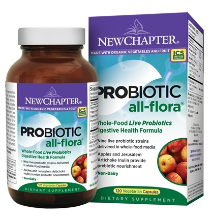 DROPPED: New Chapter - Organics Probiotic All Flora - 120 Vegetarian Capsules