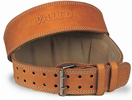 DROPPED: Valeo Inc. - Leather Lifting Belt 6 Inch-Tan - Medium - WINTER SPECIAL