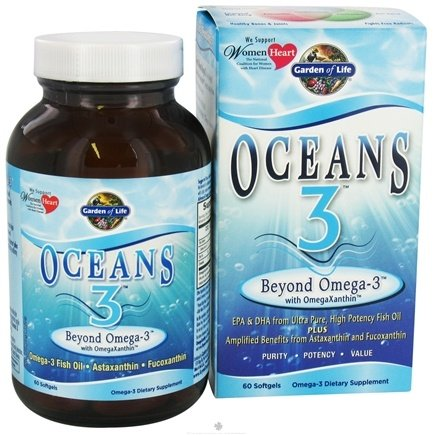 Garden of Life - Oceans 3 Beyond Omega-3 with OmegaXanthin - 60 Softgels