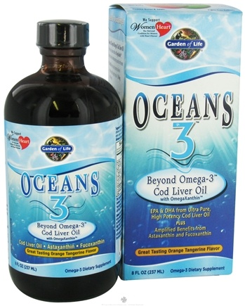 DROPPED: Garden of Life - Oceans 3 Beyond Omega-3 Cod Liver Oil Orange Tangerine - 8 oz.