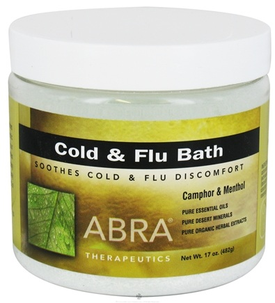 DROPPED: Abra Therapeutics - Cold & Flu Bath Camphor & Menthol - 17 oz. CLEARANCE PRICED