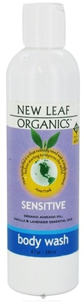 DROPPED: New Leaf Organics - Body Wash Sensitive - 8.1 oz. CLEARANCE PRICED