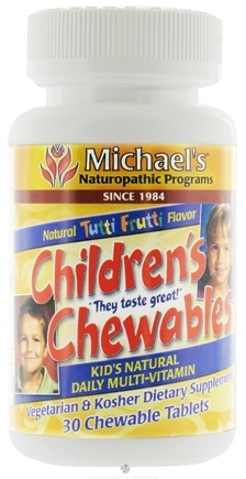 DROPPED: Michael's Naturopathic Programs - Childrens Chewables Multi-Vitamin - 30 Chewable Tablets
