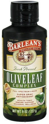 DROPPED: Barlean's - Fresh Pressed Olive Leaf Complex Full Spectrum Liquid Peppermint - 8 oz. CLEARANCE PRICED