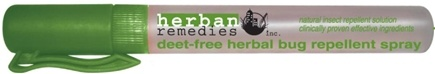 DROPPED: Herban Remedies - Deet-Free Herbal Bug Repellent Spray - 0.35 oz.